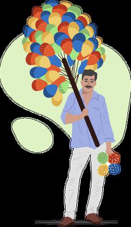 Balloon Guy Illustration