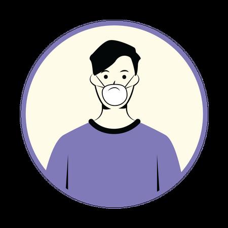 Boy with mask Illustration