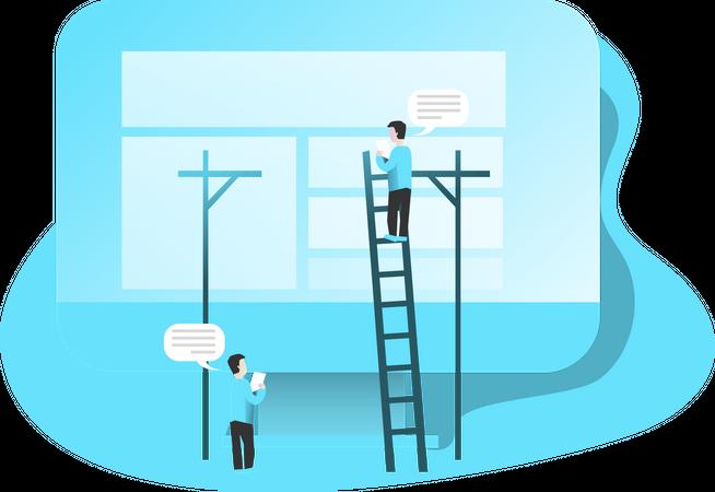 Building Website Illustration