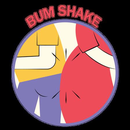 Bum shake Illustration