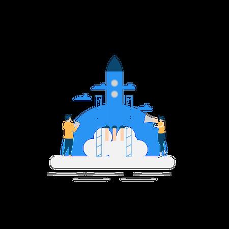 Business launch Illustration
