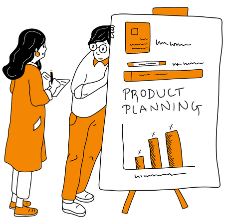 Business product planning and research Illustration