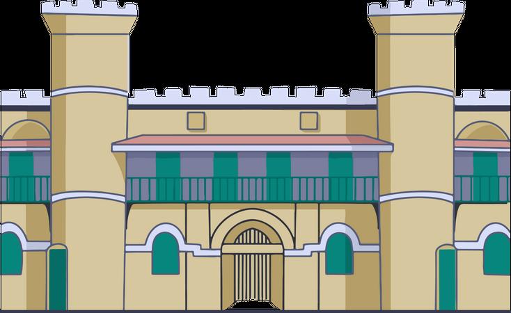 Cellular Jail Illustration