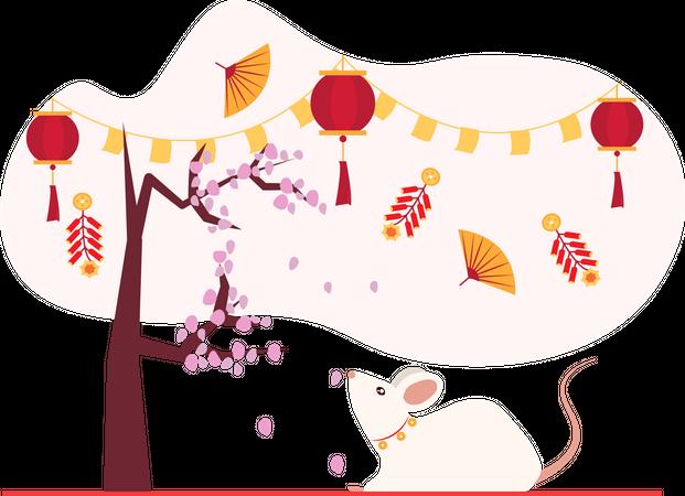 Chinese festival Illustration