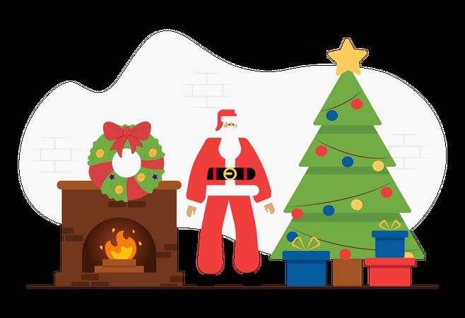 Christmas celebrations Illustration