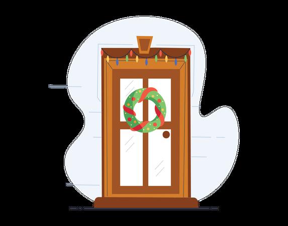 Christmas door Illustration