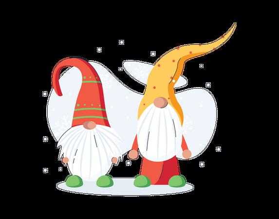 Christmas gnome Illustration