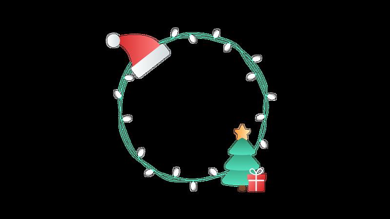 Christmas lights Illustration