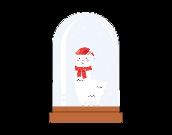 Christmas Llama Illustration
