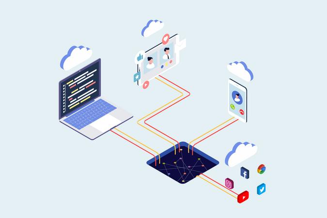 Cloud Network Illustration
