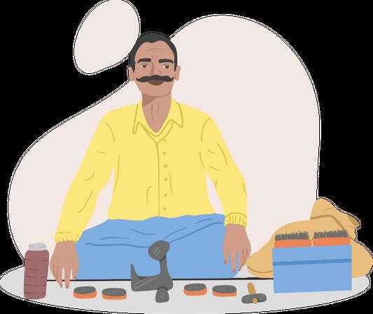 Cobbler Man Illustration