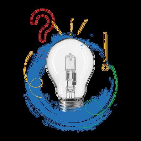 Concept-base illustration of creative idea with light bulb image Illustration