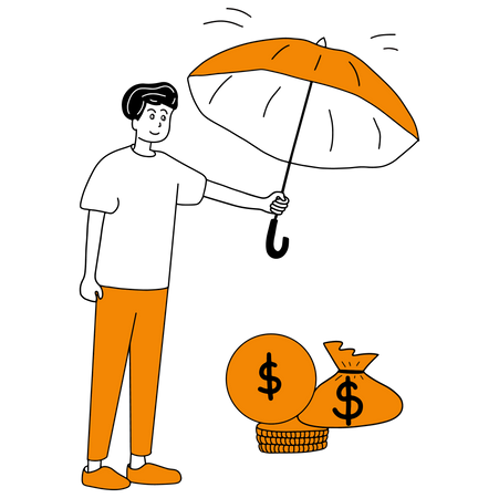 Concept of Securing Money in business startup Illustration