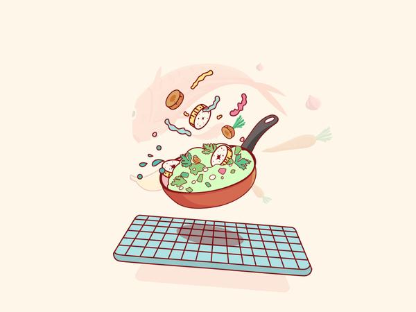Cooking food Illustration
