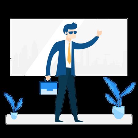 Cool businessman Illustration