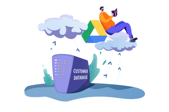 Customer Database Illustration