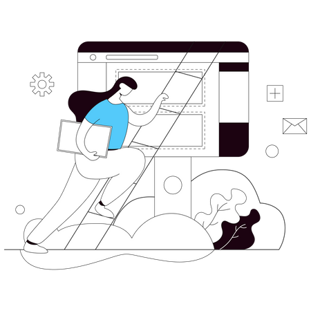Dashboard Design Illustration