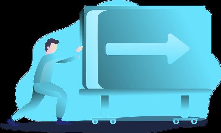 Data forwarding concept Illustration