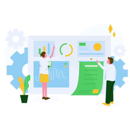 Data Processing Illustration Concept Illustration