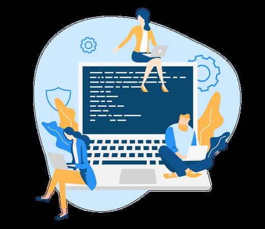 Developer Team Illustration