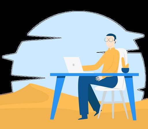 Digital nomad Illustration