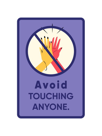 Do not touch anyone Illustration