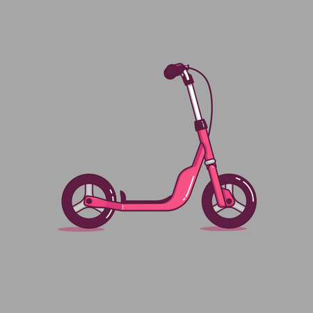E Scooter Illustration