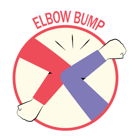 Elbow bump Illustration