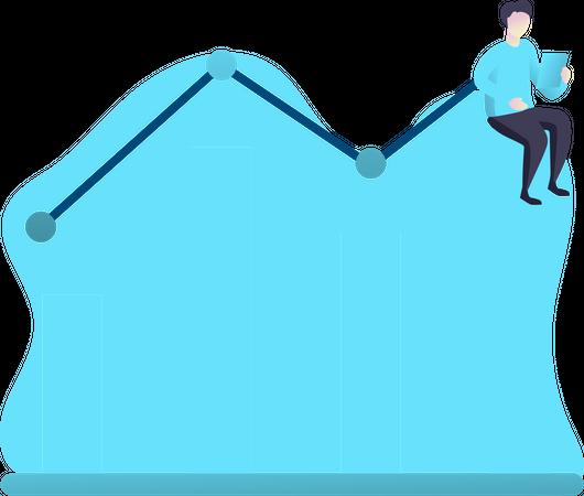 Employee performance Illustration