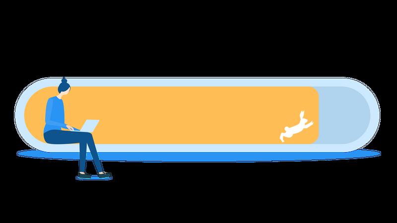 Fast loading Illustration