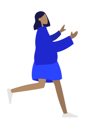 Fat girl Illustration