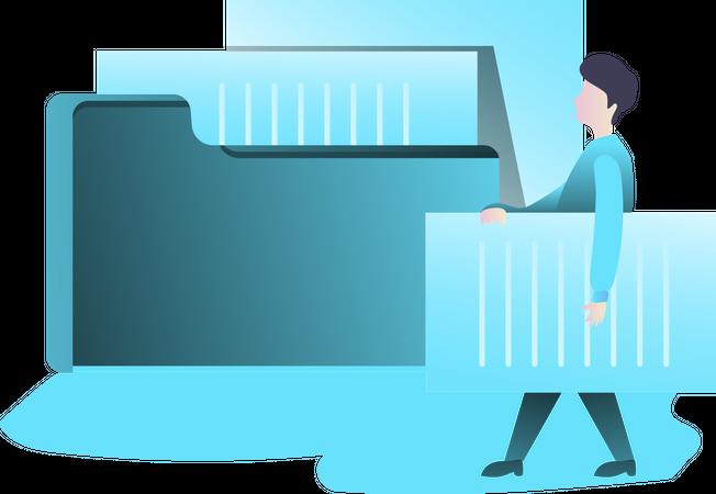 File and Folder Illustration