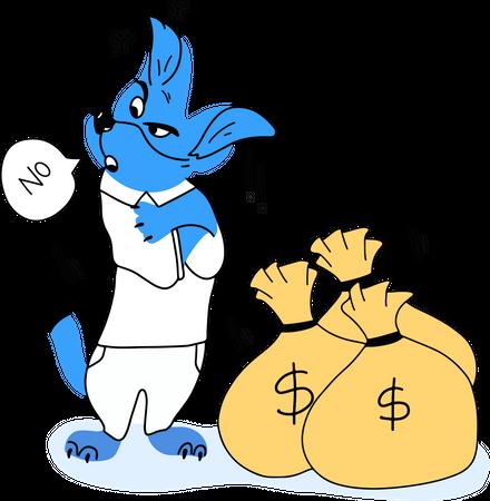 Finance control in dollar Illustration