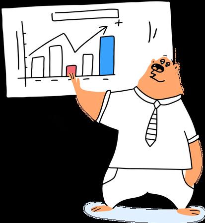 Financial graph Illustration