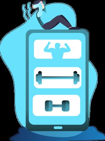 Fitness Apps Illustration