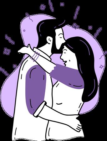 Forehead Kiss Illustration