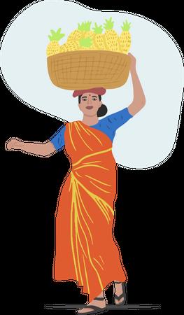 Fruit Vendor Illustration