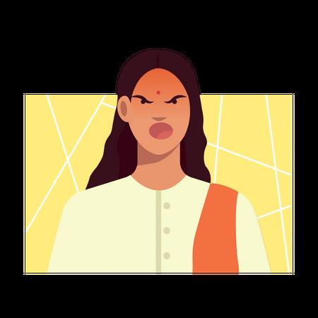 Frustrated female Illustration
