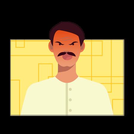 Frustrated man Illustration
