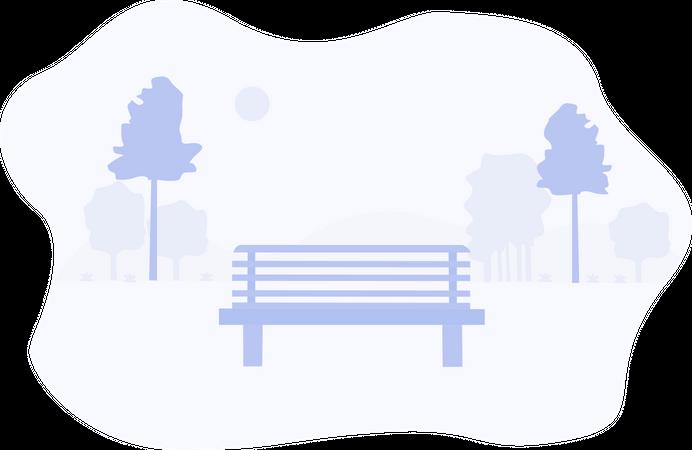 Garden sitting area Illustration