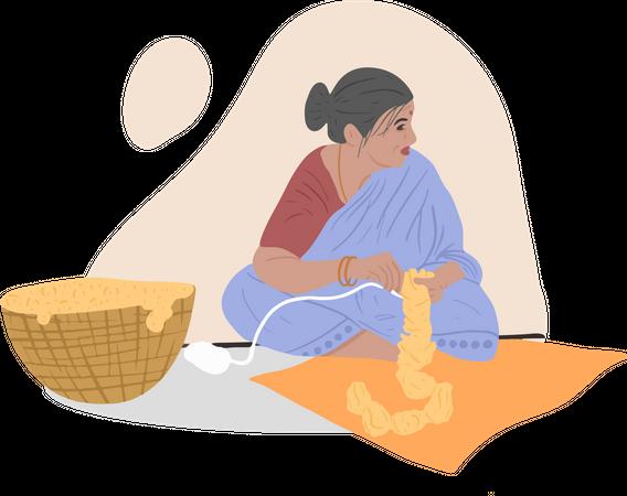 Garland Maker Illustration
