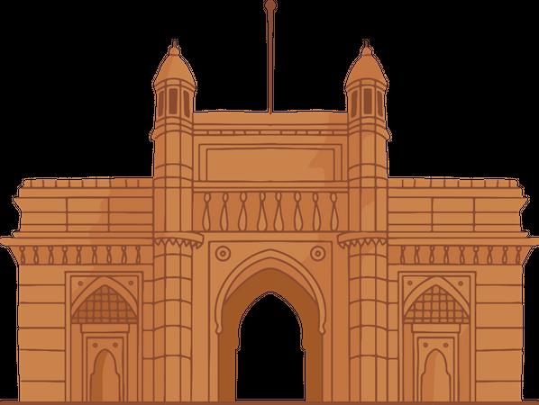 Gateway Of India Illustration