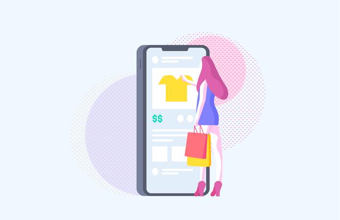 Girl Doing Online Shopping