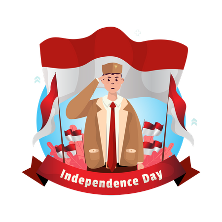 Happy Indonesian independence day Illustration