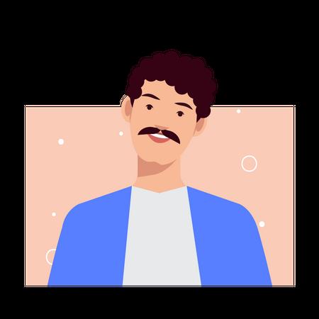 Happy Man Illustration