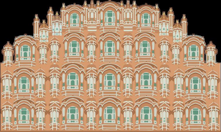Hawa Mahal Illustration
