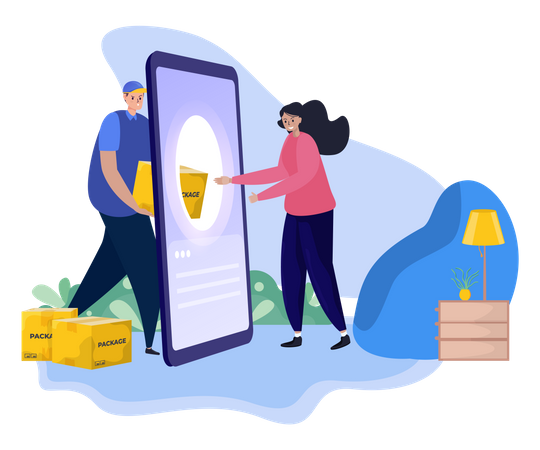 Home delivery service review Illustration