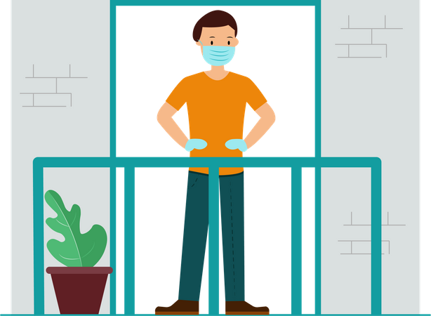 Home Quarantined Illustration