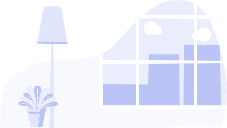 House interior Illustration