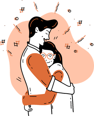 Hug Day Illustration